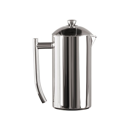 Frieling USA Double Wall Stainless Steel French Press Coffee Maker with Patented Dual Screen in Frustration Free Packaging, Polished, - Carafe Stainless Steel Frieling