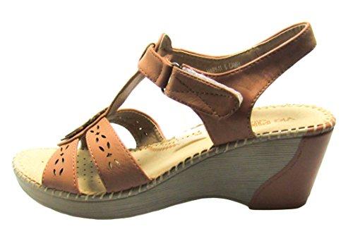 sandals shoe Womens M Mary Pinky Via Camel wedges US 11 D 10 aq7fxYB