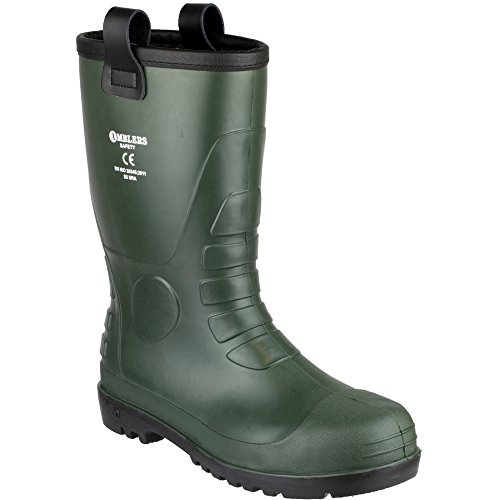 Amblers Safety Mens FS97 PVC PVC Waterproof Safety Rigger Boots Green Green