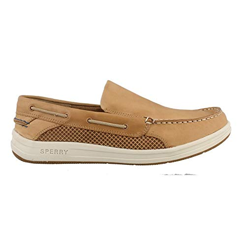 SPERRY Men's Gamefish Slip On Boat Shoe, Linen, 11 M US