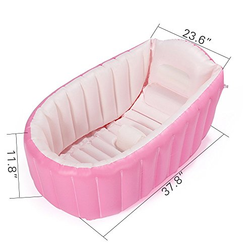 inflatable baby bathtub topist portable mini air swimming pool kid infant toddler thick foldable. Black Bedroom Furniture Sets. Home Design Ideas