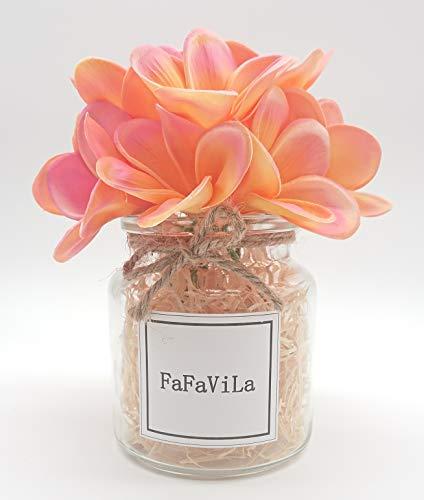FaFaVila-Bunch-of-12-PU-Real-Touch-Lifelike-Artificial-Plumeria-Frangipani-Flower-Bouquets-Wedding-Home-Party-Decoration-Plumeria-12-pcs-PinkOrange