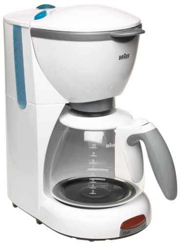 Braun KF510-WH AromaDeluxe 10-Cup Coffeemaker, White