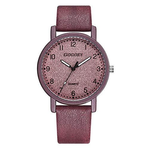 (LCAMORE Women's Watches Ladies Quartz Watch Leather Strap Fashion Casual Wristwatch for Girls)