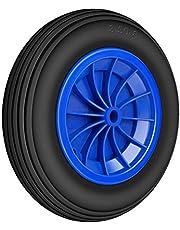 Forever Speed Kruiwagenwiel massief rubber 3.50-8 lekvrij steekwagenwiel banden kruiwagen steekwagen PU wielen 80 kg draagvermogen 356 x 80 mm