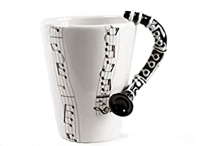 Clarinet 8oz Black Handmade Coffee Mug (10cm x 8cm)