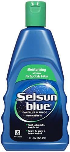 Selsun Blue Moisturizing with Aloe Dandruff Shampoo, 11 Ounce
