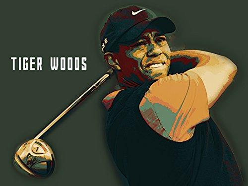 777 Tri-Seven Entertainment Tiger Woods Poster Golf Art Print, (24x18)