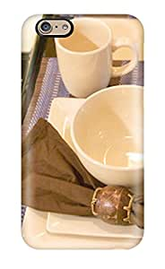 Sanp On Case Cover Protector For Iphone 6 (traditional Kitchen Table Setting In Brown Blue White)