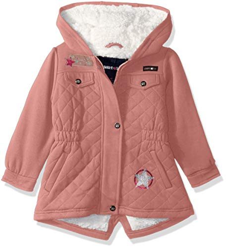 Limited Too Girls' Big Space Dyed Fleece Anorak W/Sherpa Lining, Mauve Quilt, ()
