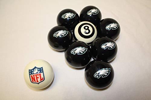 Vigma NFL Philadelphia Eagles Billiard Pool Cue Ball Half Set