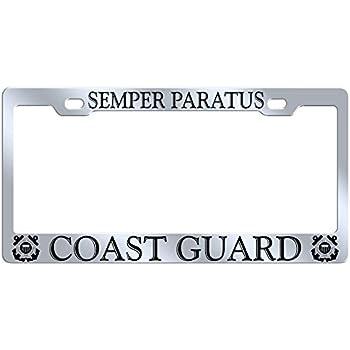 U.S COAST GUARD MILITARY Metal License Plate Frame Tag Holder
