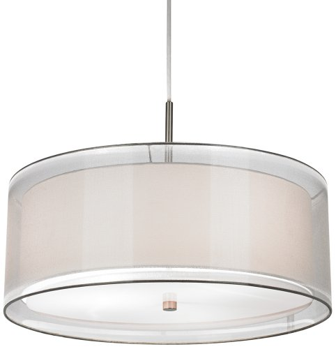 Drum Pendant Light White