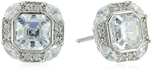 Platinum-Plated Sterling Silver Swarovski Zirconia Celebrity