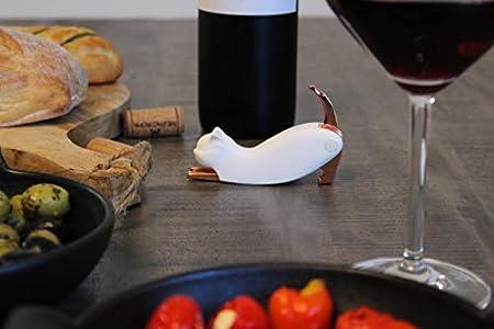 MIAU - Sacacorchos para gatos y camarero, color blanco y rosa