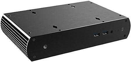 Akasa Tesla H Carcasa de Ordenador Negro - Caja de Ordenador (PC, Aluminio, UCFF, Negro, 2.5