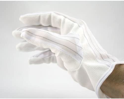 Correct Products 14-022 ESD Cleanroom ClothSure Grip Gloves 10 Pairs//Pack Medium