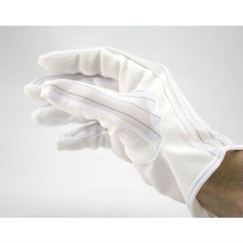 Correct Products 14-022 ESD Cleanroom Cloth ''Sure Grip'' Gloves, 10 Pairs/Pack (Extra Large)