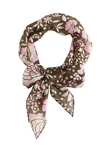 Radiant & Resilient Women Cotton Silk Skinny Scarves - Pink And Brown