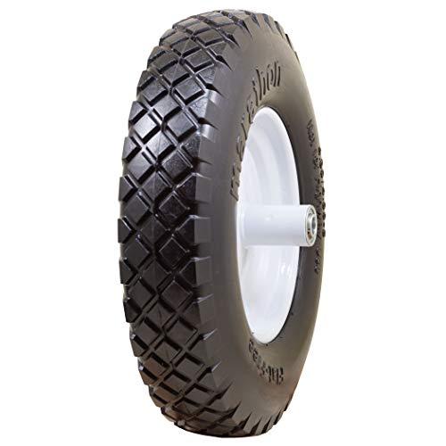 - Marathon Industries 00047 16-inch Knobby Flat Free Wheelbarrow Tire