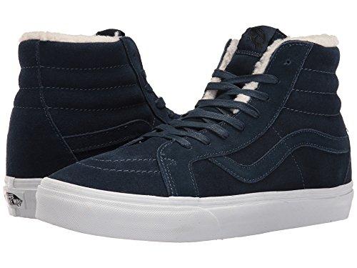 Vans Unisexe Sk8-hi Réédition (damier) Skate Shoe (polaire Suède) Robe Blues / True White
