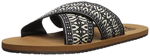 Billabong Women's SURF Bandit Flat Sandal, Black/White, 6 M ()