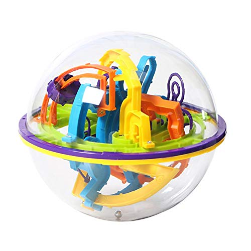 (Bright 3D Spherical Maze Magic Puzzle Intellect Ball Balance Kids Educational Toy)