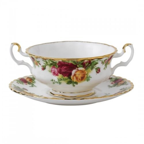 Royal Albert Old Country Roses Cream Soup 6-1/2-ounce Saucer - Soup Rose Cream Saucer