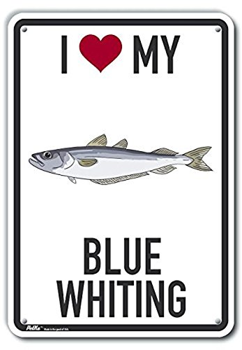 0.06 Width PetKa Signs and Graphics PKAS-0344-NP/_10x14I Heart My Blue Whiting Plastic Sign 10 x 14