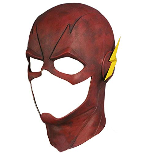 Trippy Lights The Flash Superhero Red Overhead Latex TV Series Movie Mask (Flash Mask Adult)