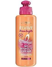 L'Oreal Paris Elvive Dream Lengths No Hair Cut Cream Leave-In Treatment 200ml (For Long, Damaged Hair)