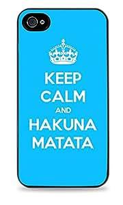 Keep Calm And Hakuna Matata Black Silicone Case for iPhone 6 Plus (5.5 inch) i6+