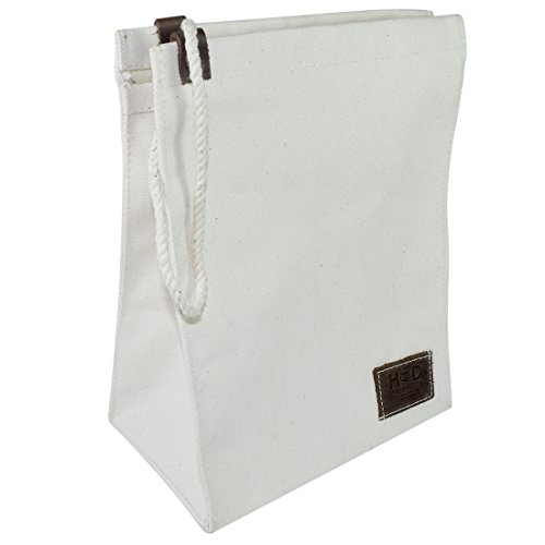 Easy Carry Cotton Canvas Lunch Bag Handmade by Hide & Drink