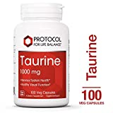 Cheap Protocol For Life Balance – Taurine 1,000 mg – Supports Nervous System, Physiological Response, and Healthy Visual Function – 100 Veg Capsules