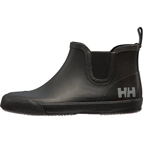 Helly Hansen Mens Waterproof Sander Lightweight Short Ankle Rain Boots, Black/Black/Silver Grey (Matte), 8
