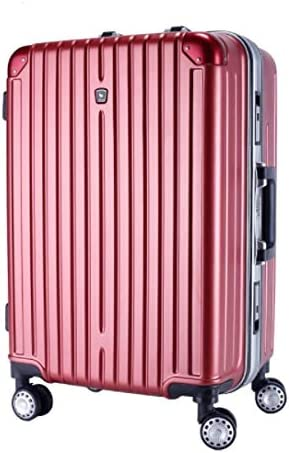 Tjtz Trolley Universal Wheel Aluminum Frame 360 Degree Mute Caster Luggage Student Color : Red, Size : S