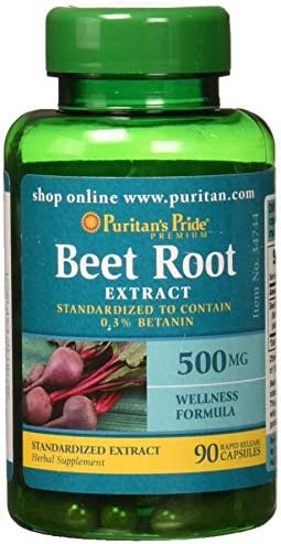Puritans Pride Beet Root Extract 500mg, 90 Count