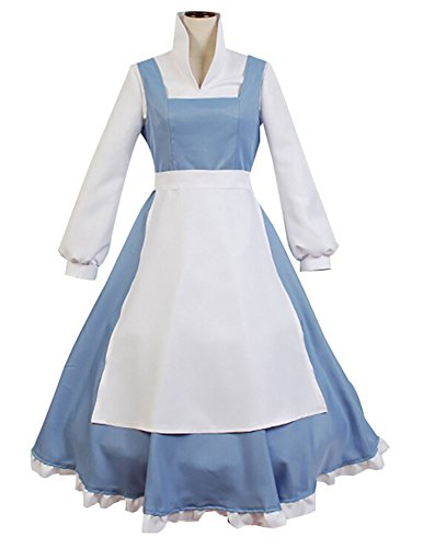 Beauty and Beast the Maid Gown Apron Dress Outfit Halloween Cosplay Costume XX-Large