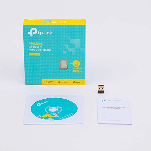 TPLink TLWN725N N150 USB wireless WiFi network Adapter for pc with SoftAP Mode  Nano Size Compatible with Windows XP788110  Mac OS 1061011  Linux Kernal 26316
