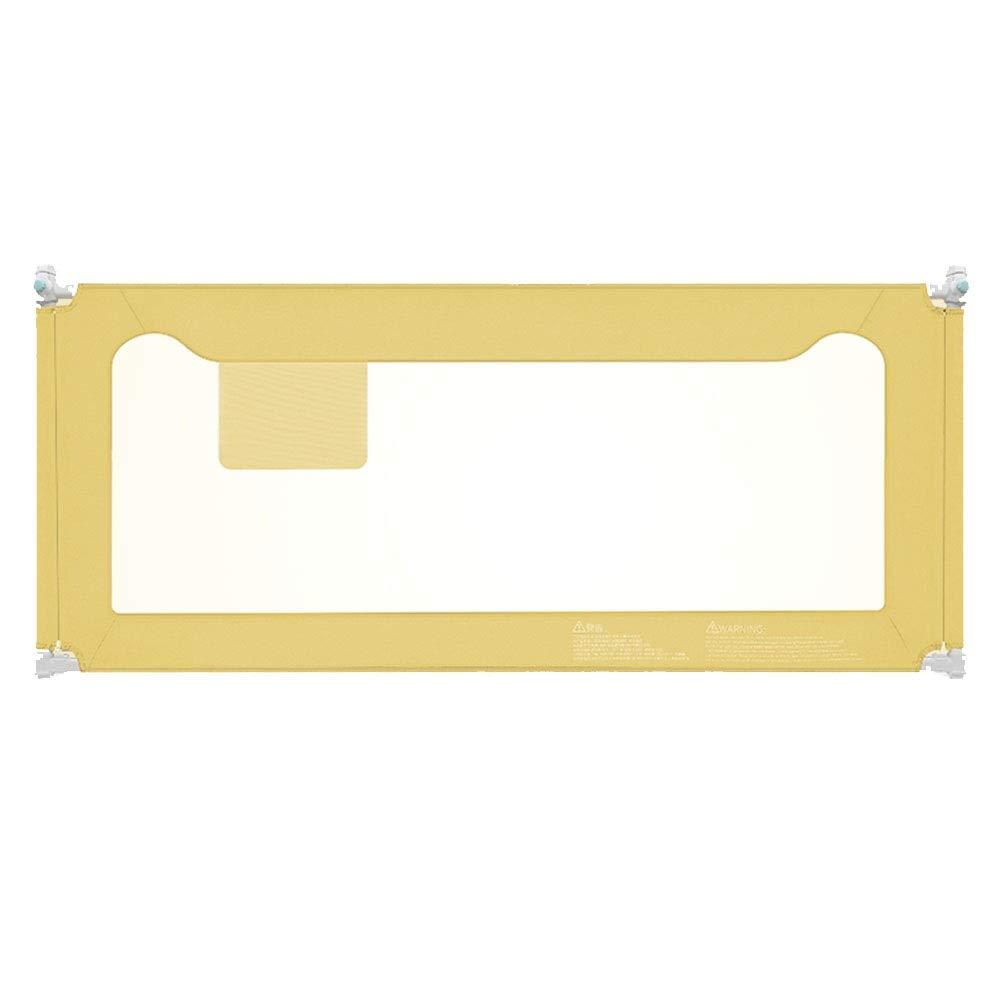 LHA ベッドガードフェンス 子供と子供の安全ベッドカバー折りたたみベビーベッドガードレール保護カバー (色 : Green, サイズ さいず : L-200cm) B07NQ2LTFK イエロー いえろ゜ L-150cm L-150cm|イエロー いえろ゜