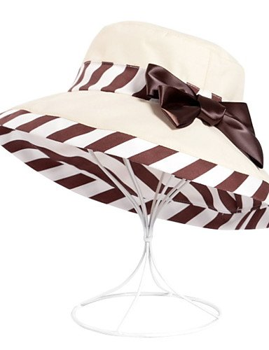 Printed Caps ONESIZE Cap Women Travel Striped Fisherman Bowknot PURPLE Dome Cap GSM vtdWAd