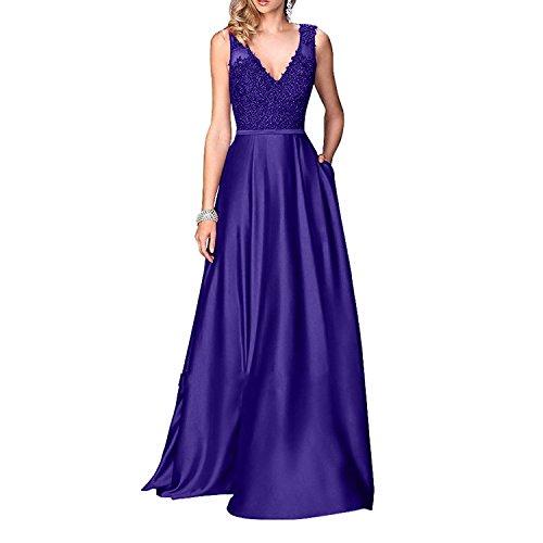 Rock Brau Satin Festlichkleider Brautmutterkleider Abendkleider mia Promkleider Regency A Partykleider Langes La Linie Spitze 7xUqRfa5wq