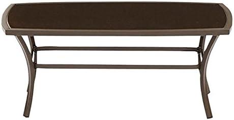 Amazon Com Garden Treasures Rectangular Steel Coffee Table