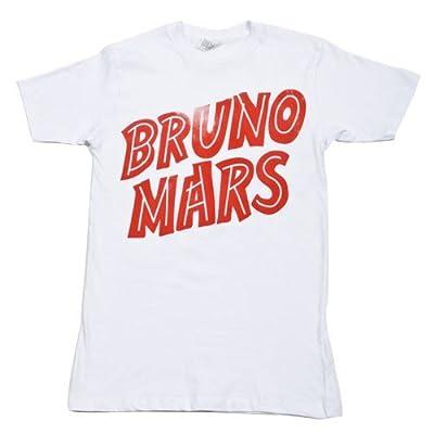 Bruno Mars Red Logo Lightweight White T-Shirt (Medium)