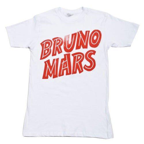 Price comparison product image Bruno Mars Red Logo Lightweight White T-Shirt (Medium)