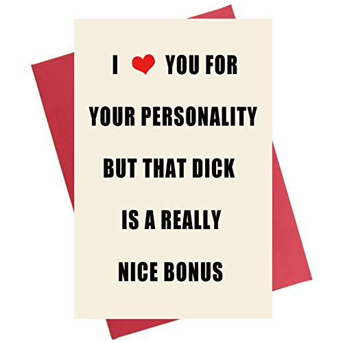 Naughty Anniversary Card | Rude Funny Birthday Greeting Card for Boyfriend, Husband, Him, Fiance (Best Valentines Cards For Him)