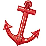Red Maritime Anchor