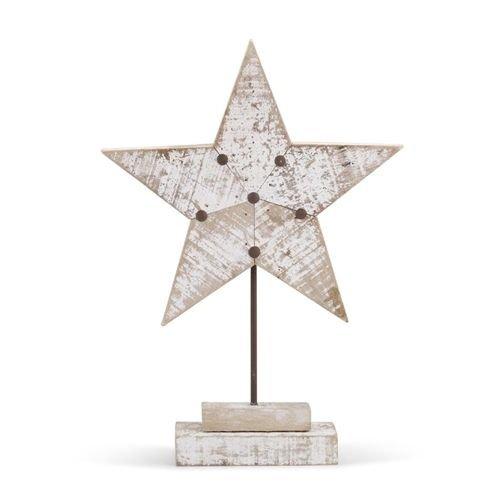 Demdaco White Wood Star Figure