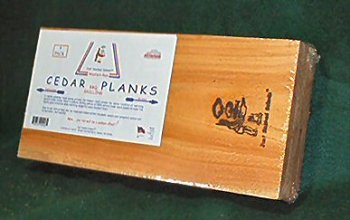 Just Smoked Salmon Western Red Cedar Grilling Planks 7.5 x 15 x 1/2 inch thick by Just Smoked Salmon