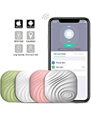 Nut3 Key Finder Smart Tracker Bluetooth Tracker Locator Wallet Phone Key Anti-Lost Bidirectional Alarm Reminder Tracking Device Replaceable Battery (4 Pack, Multicolor)
